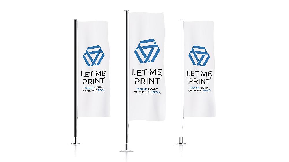 Flaggen drucken mit Ihrem Logo oder den Unternehmensfarben