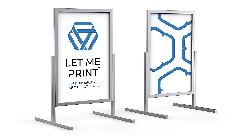 Plakatständer kaufen mit doppelseitiger Werbefläche