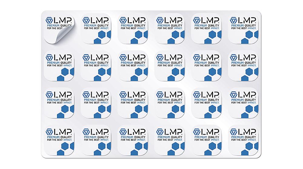 Stickerbögen verschiedene Sticker und Aufkleber