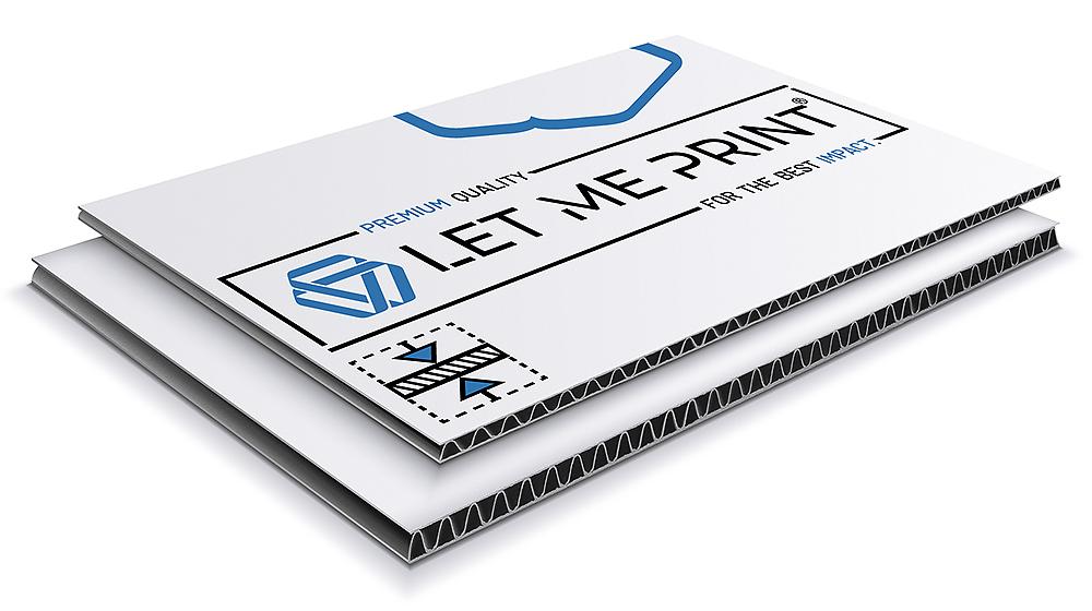 Papierplatten für auffällige Werbung