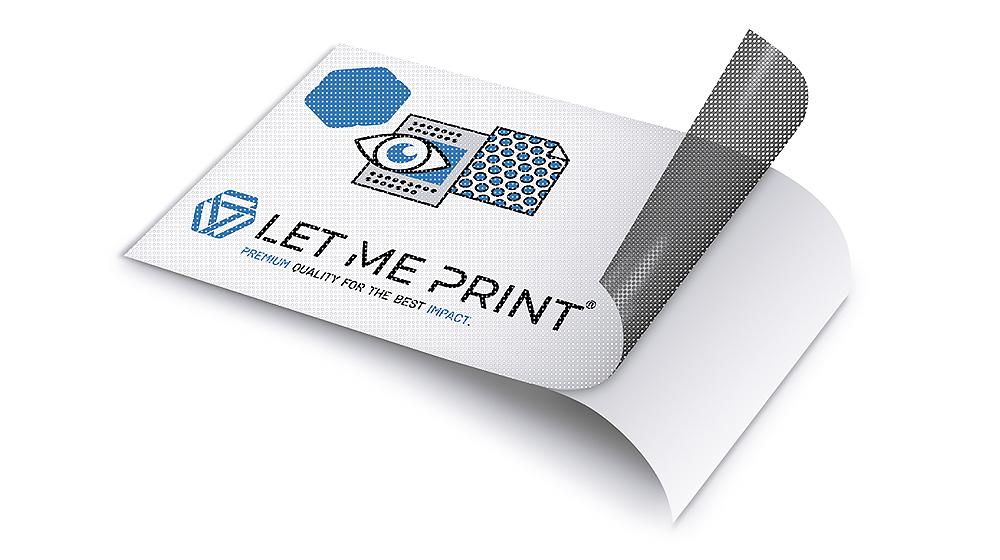 Aufkleber Lochfolie mit modernem Digitaldruck