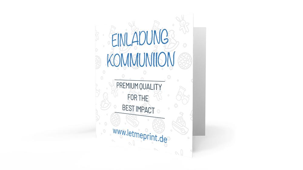 Einladungskarten Kommunion erstellen und verschicken
