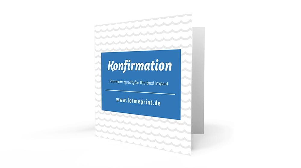 Einladungskarten Konfirmation personalisieren und drucken lassen