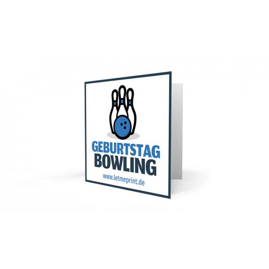 Einladungskarten Kindergeburtstag Bowling