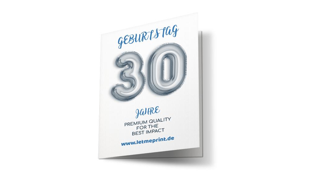Geburtstagseinladung 30 einmalige Karten