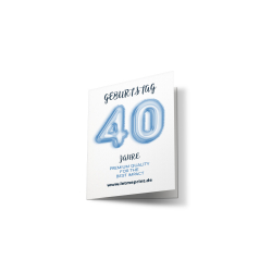 Geburtstagseinladung 40