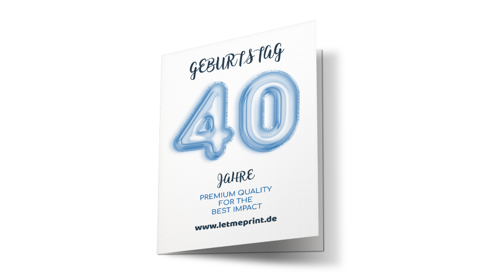 Geburtstagseinladung 40 auftrumpfen