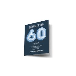 Geburtstagseinladung 60