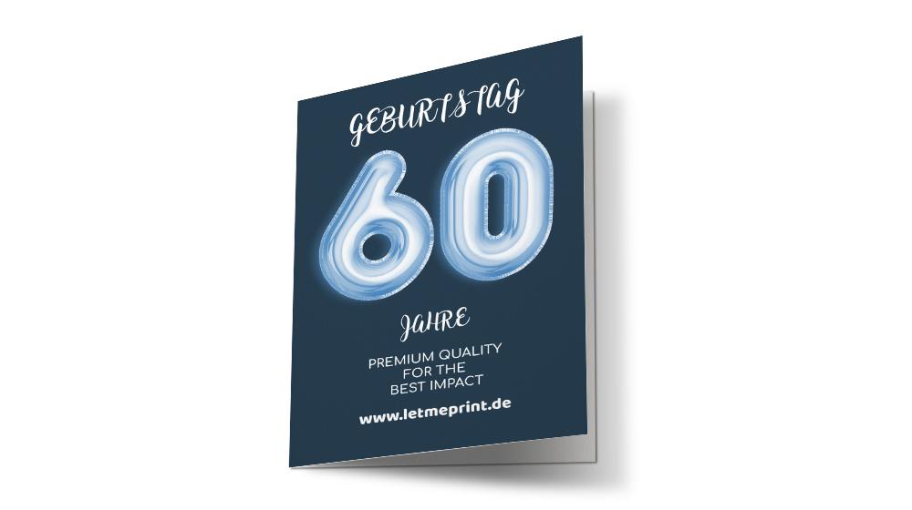 Geburtstagseinladungen 60 schnell und einfach gestalten