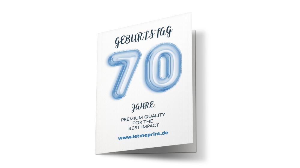 Geburtstagseinladung 70 einmalige Karten