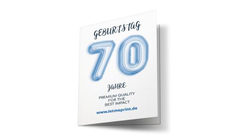 Geburtstagseinladung 70