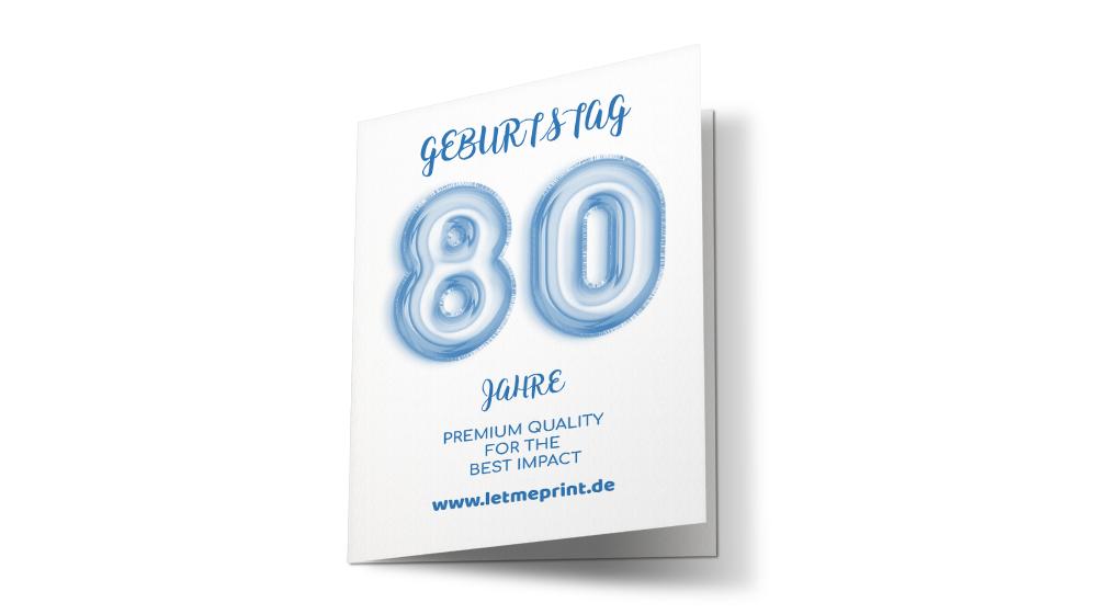 Geburtstagseinladung 80 zum großen Fest