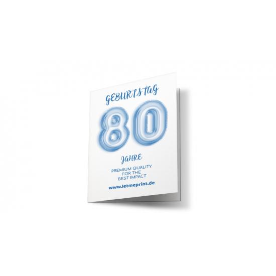 Geburtstagseinladung 80