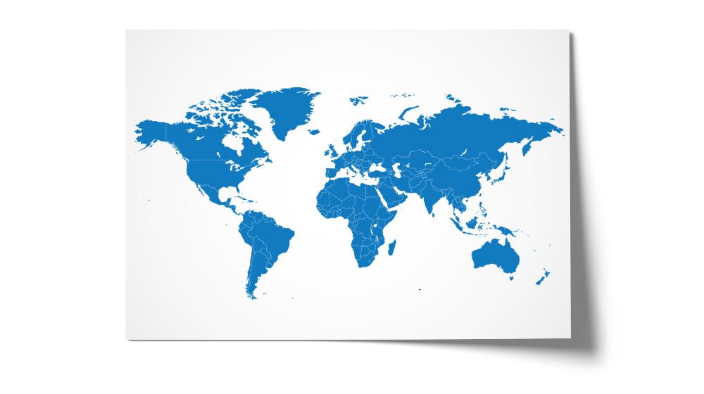 Schreibtischunterlage Weltkarte selbst gestalten