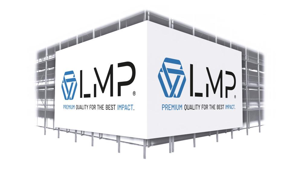 Gerüst Werbebanner in Premium Qualität für den Außeneinsatz