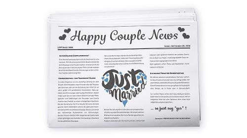 Hochzeitszeitung drucken