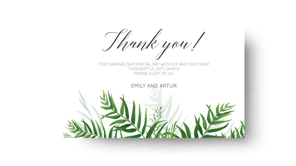 Dankeskarten Hochzeit drucken für Ihre Gäste