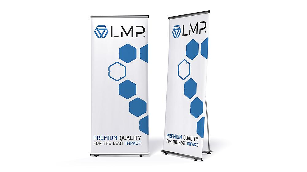 L-Banner günstiges und hochwertiges Display-System