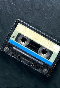 Vintage compact audio tape for magnetic recording