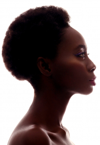 Profile of beautiful black girl