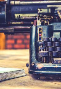 close up of typewriter vintage retro styled / Vintage