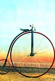 Vintage Bicycle, Penny farthing,high wheel,retro