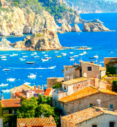 Tossa de Mar, Costa Brava, Spain.