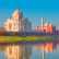 "Taj Mahal at sunset - Agra, India ""Elements of this image furnished by NASA """